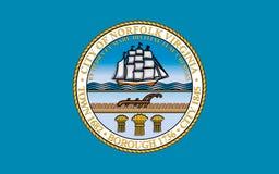 Bandeira de Norfolk em Virgínia, EUA imagem de stock royalty free