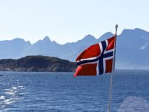 Bandeira de Noruega Fotos de Stock