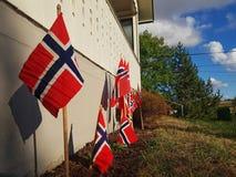 Bandeira de Noruega fotos de stock royalty free
