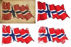 Bandeira de Noruega ilustração do vetor