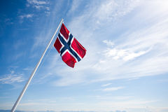 Bandeira de Noruega Imagens de Stock Royalty Free
