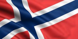 Bandeira de Noruega Fotografia de Stock Royalty Free