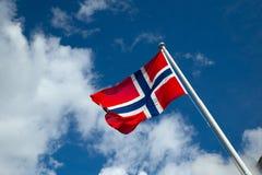Bandeira de Noruega Fotografia de Stock