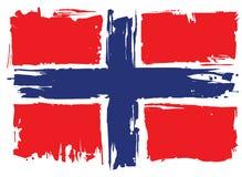 Bandeira de Noruega Elemento do projeto Imagem de Stock