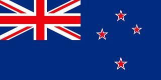 Bandeira de Nova Zelândia Imagem de Stock Royalty Free