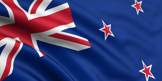 Bandeira de Nova Zelândia Imagem de Stock