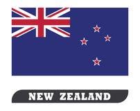 Bandeira de Nova Zelândia ilustração stock