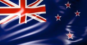 Bandeira de Nova Zelândia no vento ilustração 3D ilustração stock