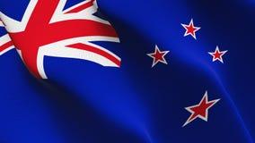 Bandeira de Nova Zelândia que acena no vento ilustração do vetor