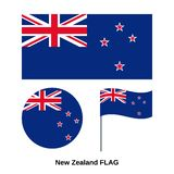 Bandeira de Nova Zel?ndia Ilustra??o do vetor Sinal nacional oficial do estado ilustração royalty free