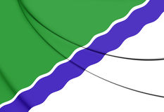 Bandeira de Novosibirsk, Rússia Imagens de Stock Royalty Free