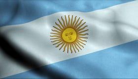 Bandeira de ondulação de Argentina em 3D ilustração do vetor