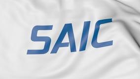 Bandeira de ondulação com logotipo de Saic Rendição 3D editorial Fotografia de Stock