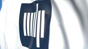 Bandeira de ondulação com o emblema do MIT de Massachusetts Institute of Technology, close-up Animação 3D loopable editorial vídeos de arquivo