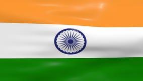 Bandeira de ondulação da Índia ilustração royalty free