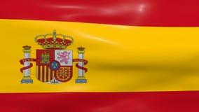 Bandeira de ondulação da Espanha ilustração do vetor
