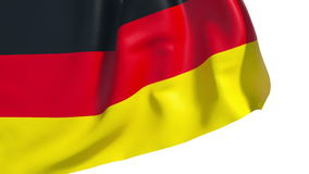 Bandeira de ondulação de Alemanha ilustração stock