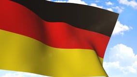 Bandeira de ondulação de Alemanha vídeos de arquivo