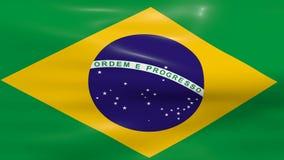 Bandeira de ondulação de Brasil ilustração royalty free