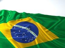 Bandeira de ondulação de Brasil Imagens de Stock