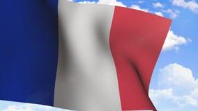 Bandeira de ondulação de France video estoque