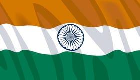 Bandeira de ondulação de India Fotografia de Stock Royalty Free