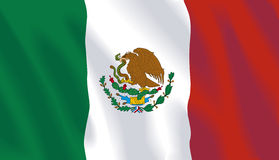 Bandeira de ondulação de México Foto de Stock