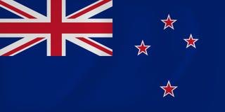 Bandeira de ondulação de Nova Zelândia Imagem de Stock Royalty Free