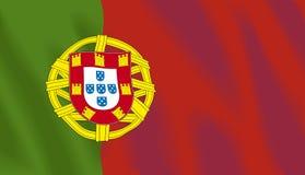Bandeira de ondulação de Portugal Fotos de Stock