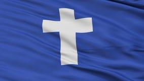 Bandeira de ondulação de Religious Close Up do capelão do iate ilustração royalty free