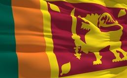 Bandeira de ondulação de Sri Lanka Fotos de Stock