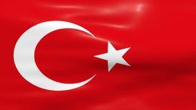 Bandeira de ondulação de Turquia ilustração stock