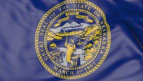Bandeira de ondulação do estado de Nebraska rendição 3d Imagens de Stock