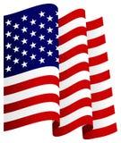 Bandeira de ondulação dos E.U. Fotografia de Stock Royalty Free