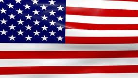 Bandeira de ondulação dos EUA ilustração do vetor