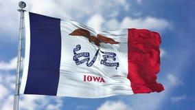 Bandeira de ondulação de Iowa imagens de stock