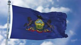Bandeira de ondulação de Pensilvânia Imagem de Stock