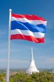 Bandeira de ondulação tailandesa Imagem de Stock