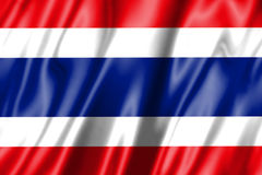 Bandeira de ondulação tailandesa Imagem de Stock Royalty Free