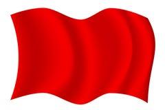 Bandeira de ondulação vermelha Fotos de Stock Royalty Free