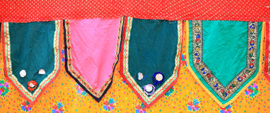 Bandeira de pano de Colorfull Foto de Stock Royalty Free