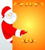 Bandeira de Papai Noel Fotografia de Stock Royalty Free