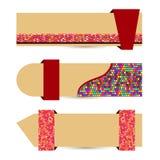 Bandeira de papel abstrata Foto de Stock Royalty Free
