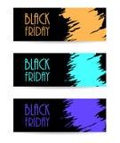 Bandeira de papel preta Imagem de Stock