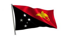 Bandeira de Papuásia-Nova Guiné Uma série de bandeiras do ` do mundo ` O país da bandeira Papuásia-Nova Guiné Foto de Stock