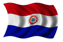 Bandeira de Paraguai Imagens de Stock Royalty Free