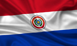 Bandeira de Paraguai Fotos de Stock