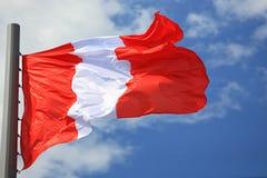 Bandeira de Peru Imagem de Stock Royalty Free