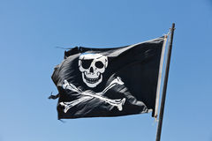 Bandeira de pirata Fotografia de Stock
