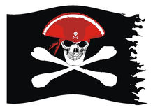 Bandeira de pirata Fotos de Stock Royalty Free